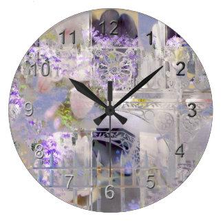 Barrio francés reloj redondo grande
