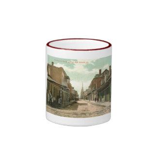 Barrio francés, vintage 1910 de New Orleans Tazas De Café