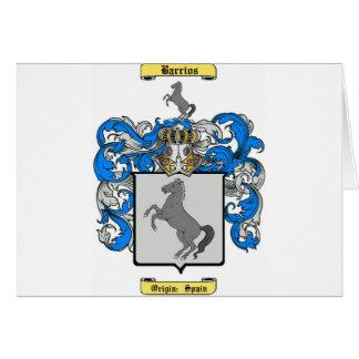 Barrios hispanos tarjeta de felicitación