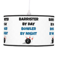 Barrister by Day Bowler by Night Hanging Lamp