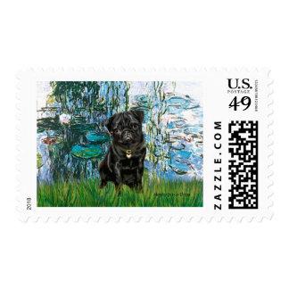 Barro amasado 13 (negro) - lirios 1 franqueo