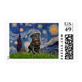 Barro amasado 13 (negro) - noche estrellada sellos