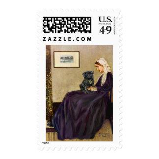 Barro amasado 14 (negro) - la madre de la marmota sello