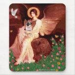 Barro amasado 5 (cervatillo) - ángel asentado alfombrillas de ratón