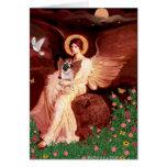 Barro amasado 5 (cervatillo) - ángel asentado tarjetas