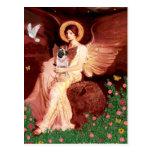 Barro amasado 5 (cervatillo) - ángel asentado postal