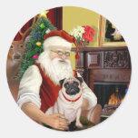 Barro amasado #5 de Santa en casa - Etiquetas Redondas