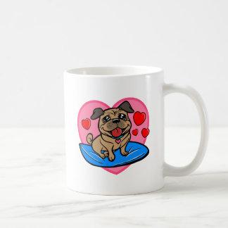 Barro amasado adaptable adorable de la tarjeta del tazas de café