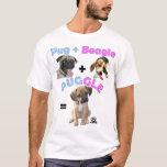 Barro amasado + Beagle = Puggle Playera