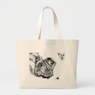 Barro amasado blanco y negro bolsas lienzo