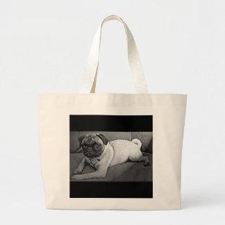 Barro amasado blanco y negro bolsa de mano
