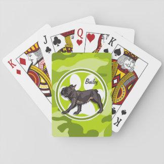 Barro amasado; camo verde claro, camuflaje cartas de póquer