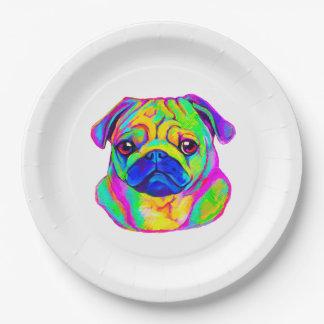 Barro amasado colorido platos de papel