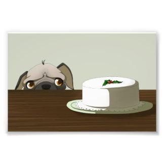 Barro amasado con la torta del navidad arte fotográfico