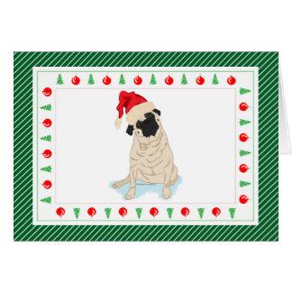 Barro amasado de encargo del navidad del gorra de tarjeta pequeña