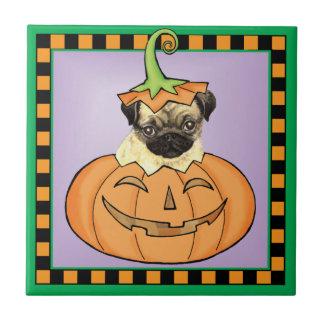 Barro amasado de Halloween Azulejo Cuadrado Pequeño