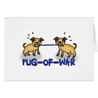 Barro amasado de la guerra (retruécano del tarjeta de felicitación