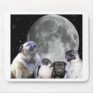 Barro amasado de la luna del barro amasado cuatro mouse pads