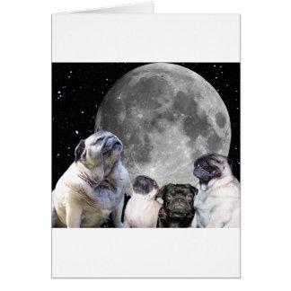 Barro amasado de la luna del barro amasado cuatro tarjeta de felicitación