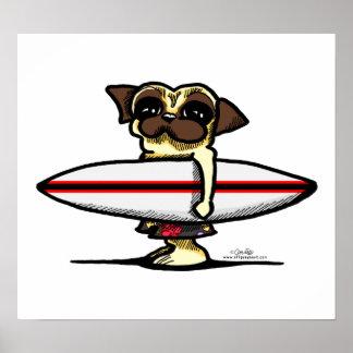 Barro amasado de la persona que practica surf poster