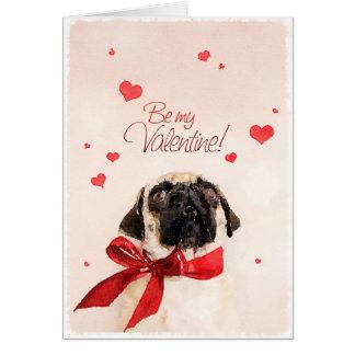 Barro amasado de la tarjeta del día de San Valentí