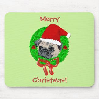 Barro amasado de las Felices Navidad Tapetes De Raton
