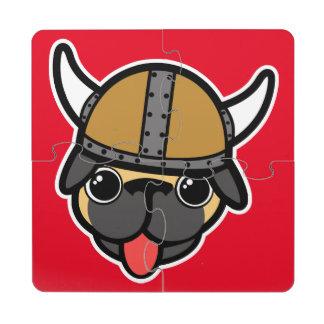 Barro amasado de Viking Posavasos De Puzzle