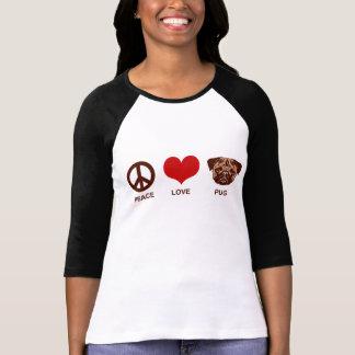 Barro amasado del amor de la paz camisetas