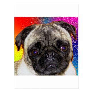Barro amasado del arco iris tarjeta postal