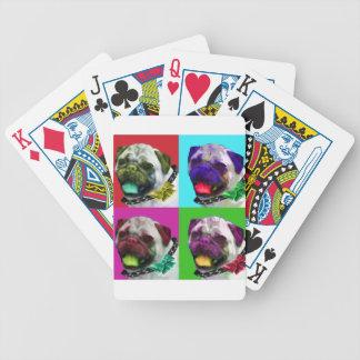 Barro amasado del arte pop barajas de cartas