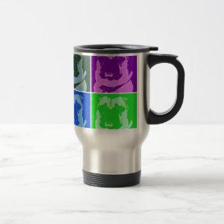 Barro amasado del arte pop taza térmica