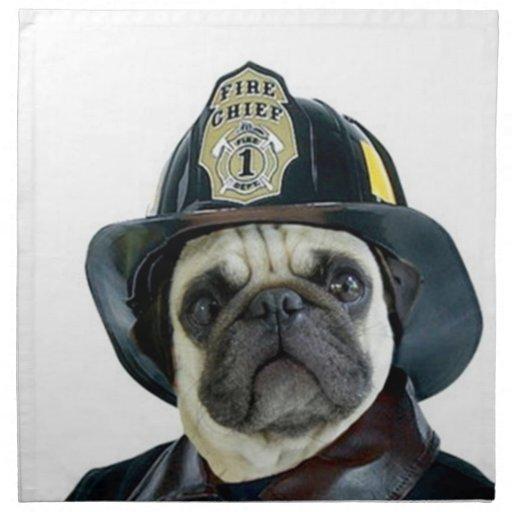 Barro amasado del bombero servilleta de papel