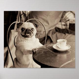 Barro amasado del café póster