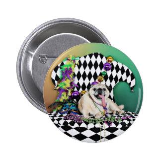 Barro amasado del carnaval 2015 de Pugsgiving - Pin Redondo De 2 Pulgadas