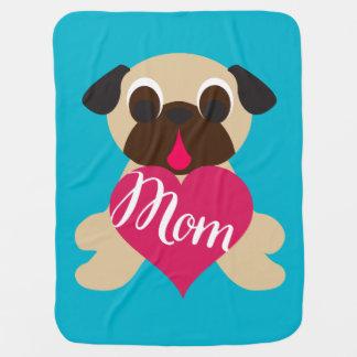 Barro amasado del cervatillo con la mamá en manta mantas de bebé