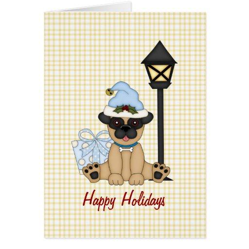 Barro amasado del día de fiesta con el presente (a tarjeta