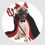 Barro amasado del diablo de Halloween Pegatinas Redondas