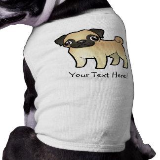 Barro amasado del dibujo animado camisetas de perrito