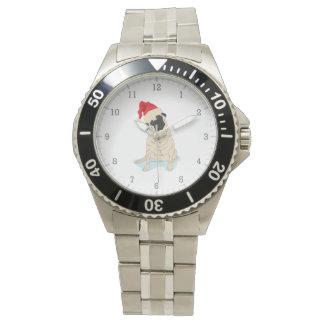 Barro amasado del navidad del gorra de Santa Relojes De Pulsera