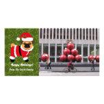 Barro amasado del navidad tarjeta fotografica