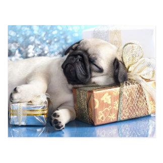 Barro amasado del perrito el dormir y regalos del  postales
