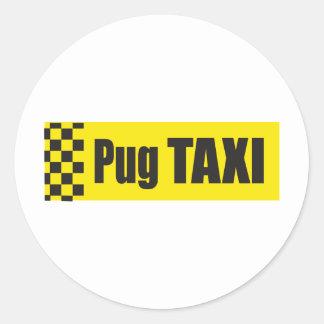 Barro amasado del taxi pegatina redonda