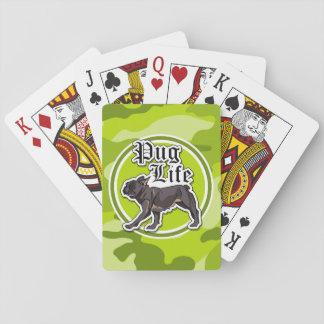 Barro amasado divertido; camo verde claro, cartas de juego