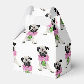 Barro amasado dulce con las flores rosadas cajas para regalos de boda