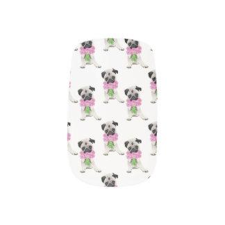 Barro amasado dulce con las flores rosadas stickers para manicura