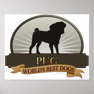 ¡Barro amasado - el mejor perro del mundo! Póster