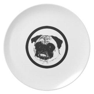Barro amasado en círculo plato para fiesta