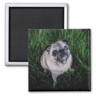 Barro amasado en la hierba (pintura de Digitaces) Imán De Frigorífico