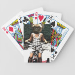 barro amasado en las ruedas baraja cartas de poker
