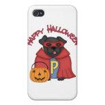 Barro amasado estupendo negro del feliz Halloween iPhone 4/4S Carcasas
